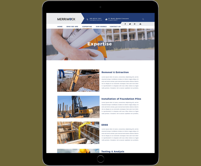 Merrimack Website Tablet View