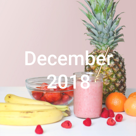 An image that says december food trends 2018