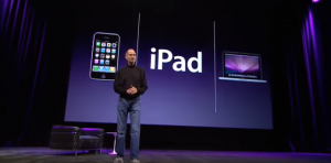 Steve Jobs announcing the iPad in 2010