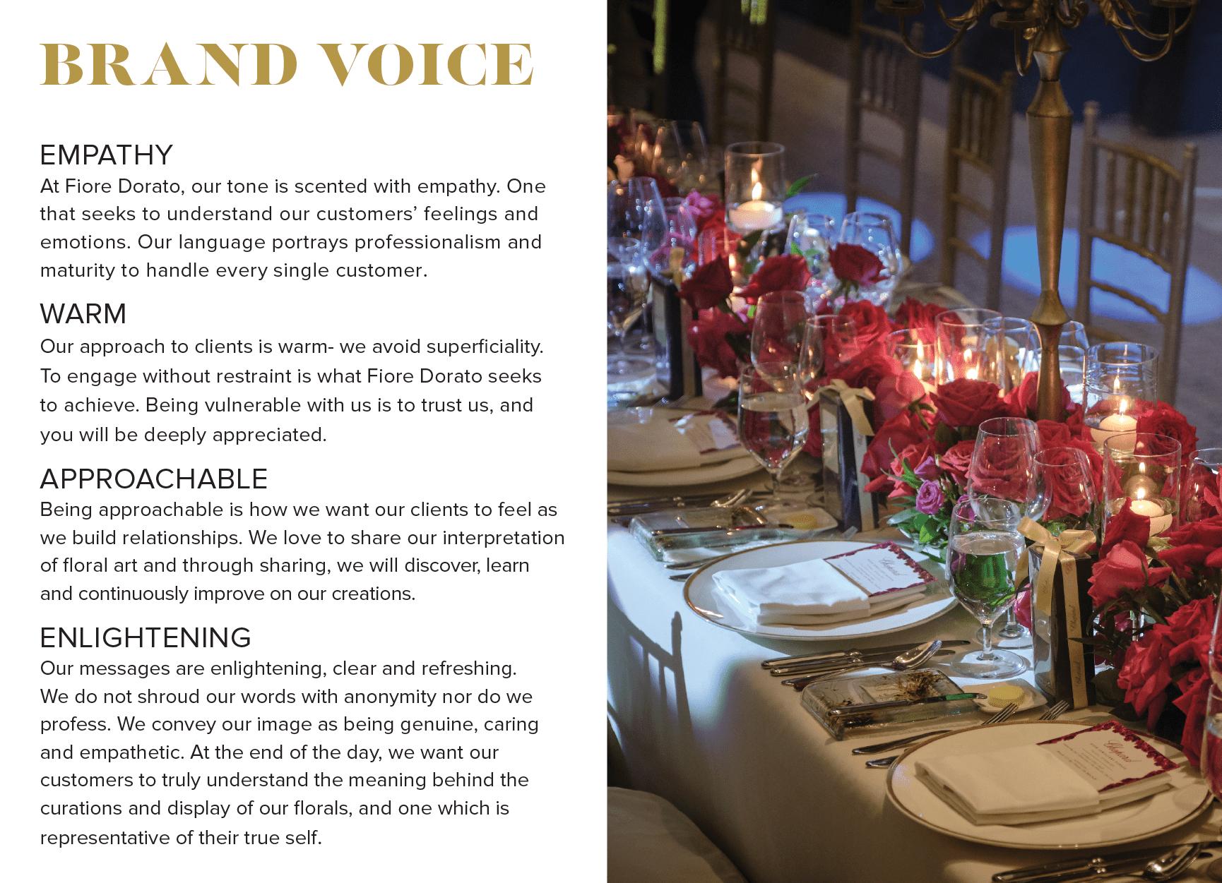 Fiore brand voice